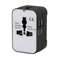 Best International Universal All in One Worldwide Travel Adapter Wall Charger AC Power Plug Adapter with Dual USB wholesale