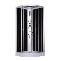 Best 900x900x2150mm Fashion Massage Corner Shower Stalls , Circle Quadrant Shower Cabin with white acrylic tray and roof wholesale