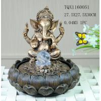Best Indian Polyresin Water Fountain With Revolving Ball , Electricity Pump Power wholesale