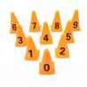 23cm Orange Training Cones , Digital Sign Barrel Small Football Cones for sale