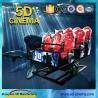 Best 6 DOF Snow Virtual Reality 5D Cinema Equipment  With Hydraulic / Electric Platform wholesale