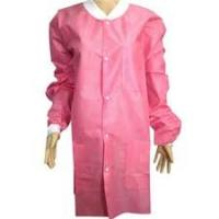 Buy cheap White Disposable Polypropylene Lab Coat , Film Laminated Disposable Visitor from wholesalers