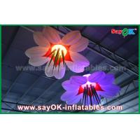 Quality LED Hang Flower Inflatable Lighting Decoration Nylon Cloth For Advertising / Event wholesale