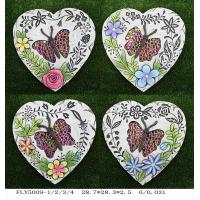 Best Heart Shaped Ceramic Garden Decorations Foot Stepping Stone Pathway Path Paving wholesale