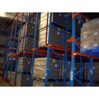 China Drive in / through industrial pallet racks , Cold room warehouse pallet shelving on sale