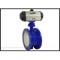 Best ANSI Stanard Quarter Turn Pneumatic Actuator With Wafer Type Butterfly Valve wholesale
