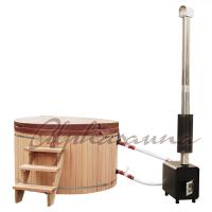 Quality 2100*900/1000/1200MM Sauna Hot Tub With Burning Stove Garden A Grade clear  Cedar Tub wholesale