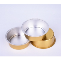 China Disposable Aluminum Drinking Cups 150ml Aluminum Baking Cups With Lids for sale