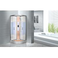 Quality KPN2064 Customized Circle Glass Shower Cabin , Curved Corner Shower Units wholesale