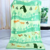 Best Custom Forest Jacquard Woven Velvet Beach Towels Canada Heavy Weight 550gsm wholesale