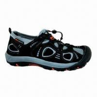 China Men's shoes with cow suede leather/mesh with phylon outsole, molded EVA insole on sale
