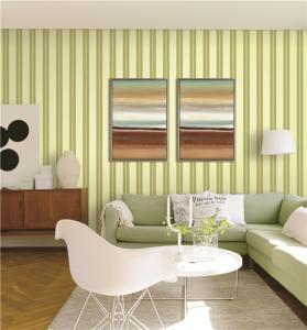 Best 70cm width fireproof waterproof mould proof stripe styles PVC vinyl wallpaper wholesale