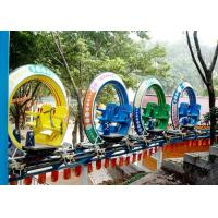 Best Multi Color UFO Cycle Monorail Ride , Track Car Model Roller Coaster Attractions wholesale