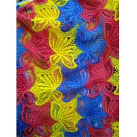 Quality Customized Factory supply Colorful embroidery polyster lace fabrics wholesale