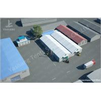 Cheap 15x35M Transitional Large Canopy Tent Fabric Covered Storage Buildings for sale
