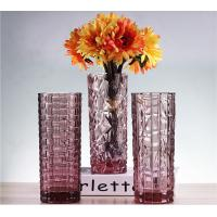 Best Weaving Colored Glass Vase / Transparent Desktop Decoration Vase wholesale