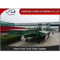Quality Heavy Duty Truck transportation 80 ton Lowbed Semi Trailer Trucks And Trailers wholesale