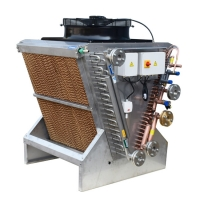 Adiabatic Hybrid Dry Cooler Chiller Adiabatic Cooling Pad Systems for sale