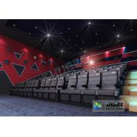 Best Black Electric 4D Movie Theater Seats With Safety Belt , Footrest wholesale