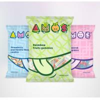 Snack Food Plastic 3 Side Seal Bag With Tear Notch Full Color Printing OEM for sale