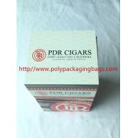 Best Custom Cigar Humidor Bags / Cigar Wraps with Zipper and Window wholesale
