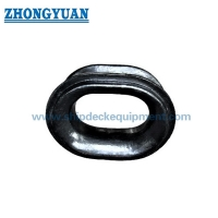 CB 34-76 Type B Bulwark Bolted Casting Steel Mooring Chock for sale