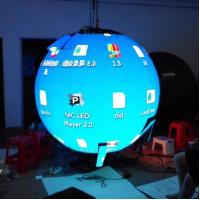 Buy cheap Flexible Indoor Hanging Led Video Ball Display , Led Ball Screen Energy Saving from wholesalers