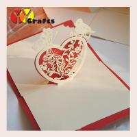 Best CMYK 3D Pop Up Card birthday greeting card heart with bird OEM wholesale