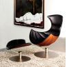 Quality Hjellegjerde Lobster Fiberglass Arm Chair Leather Leisure Modern Design wholesale