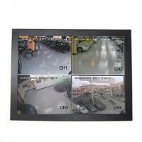 Best Black 15 Inch CCTV LCD Monitor Panel Wall Mount Wide Viewing Angle Low Consumption wholesale