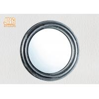 Best Pratical Glass Framed Fiberglass Wall Mounted Vanity Mirror Round Shape wholesale