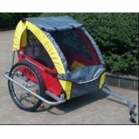 Buy cheap Red Double Child Bike Trailer with 420D waterproof polyester textile from wholesalers