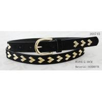 Best Fake Suede Ladies Fashion Belts Ln Gold Color Of Rhombus Shape Metal & Buckle wholesale