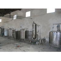 White Dairy Processing Machinery SS304 Yogurt Production Line Equipment for sale