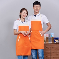Buy cheap Customized Logo Printing Plain Design Polyester Men Women Protective Kitchen from wholesalers