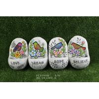 Best Multi Color Cement Garden Statues With Words '  Believe '  ' Dream '  20.2 X 13 X 7.8 Cm wholesale