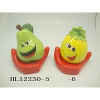 Best Funny Ceramic Piggy Bank Money Box Fruit And Vegetable Shaped With Base wholesale