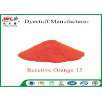 Buy cheap Textile Synthetic Fiber Reactive Dye C I Reactive Orange 13 100% Purity from wholesalers