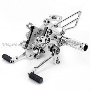 Buy cheap Silver / Black Motorcycle Rear Sets , Custom Motorcycle Foot Pegs from wholesalers