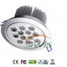 Best 220V 12W LED Recessed Downlight Lumen 1200 45 Degree For Shop , 2700K - 7000K wholesale
