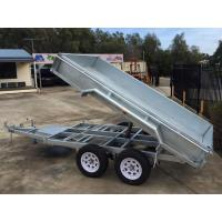Quality Galvanised Axle Hydraulic Tipper Trailer , 10 X 5 Tandem Trailer With Electrical Brake wholesale