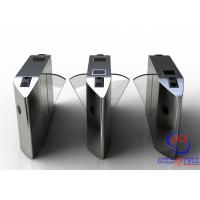 Buy cheap Full Automatic Flap Barrier Gate With Reader Card / Fingerprint Recognition For from wholesalers