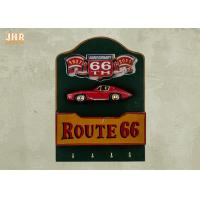 Best Resin Car Wall Decor Wood Wall Envelope Holder Decorative Wall Plaques Pub Sign Green Color wholesale