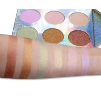 Buy cheap Longlasting Makeup Highlighter Palette , Face Powder Palette With 6 Colors from wholesalers