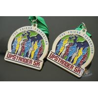 Best Matt Silver Plating Custom Sports Medals / Upstander 5K Medal wholesale