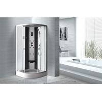 Quality Matt Silver Profiles Curved Glass Shower Enclosures , Enclosed Shower Cubicles wholesale