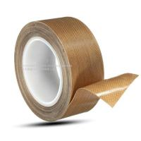 China Heat Resistance 0.18mm PTFE Adhesive Packing Tape , RoHS Fiberglass Self Adhesive Tape for sale