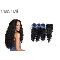 Best Deep Curly Unprocessed Remy Hair Extensions Weave For Black Woman 350g wholesale