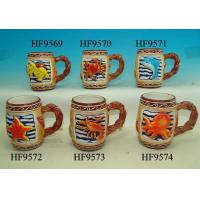 Best Colorful Coffee Custom Ceramic Mugs With Relief Sea Animals 12. X 8 X 11 Cm wholesale