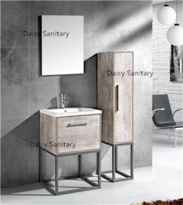 Best Modern MDF Bathroom Vanity Classic Waterproof Design With Side Cabinet wholesale